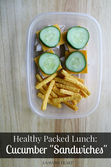 Healthy Packed Lunch Cucumber Sandwiches