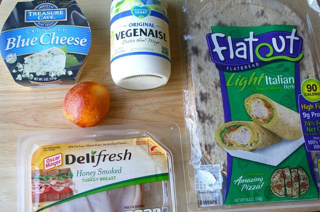 Turkey and Blue Cheese Pinwheel Ingredients