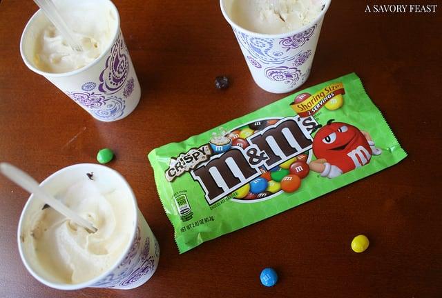 M&M's Crispy Ice Cream Pops Recipe