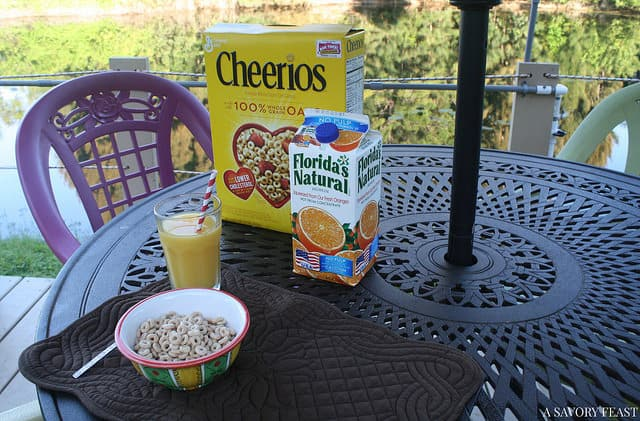 Cheerios and OJ