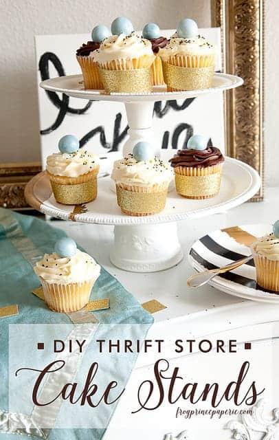 DIY Thrift Store Cake Stand