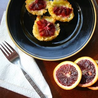Blood Orange Custard Tarts