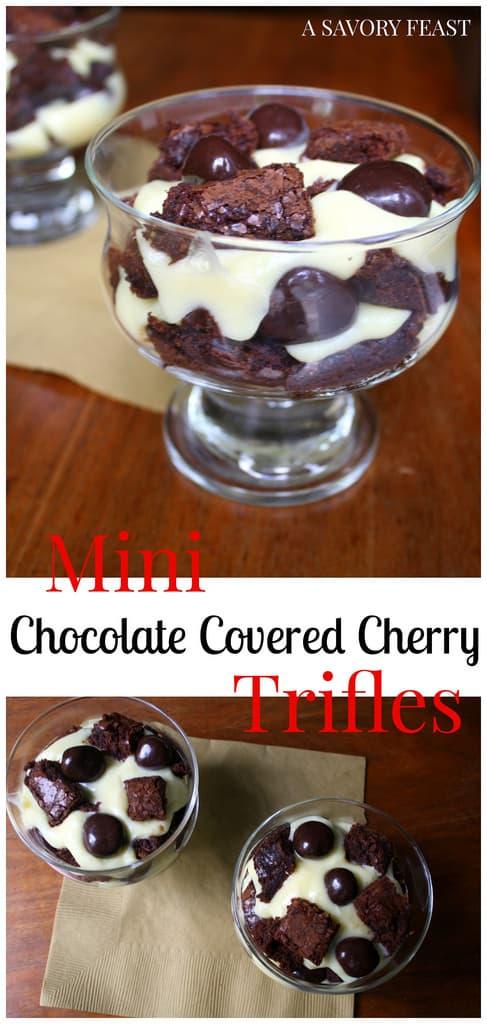 Mini Chocolate Covered Cherry Trifles