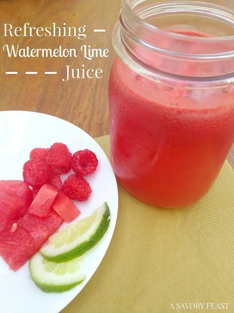 Refreshing Watermelon Lime Juice