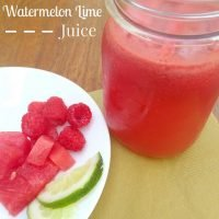 Refreshing Watermelon Lime Juice