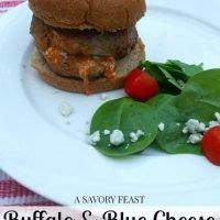 Buffalo & Blue Cheese Stuffed Turkey Burgers