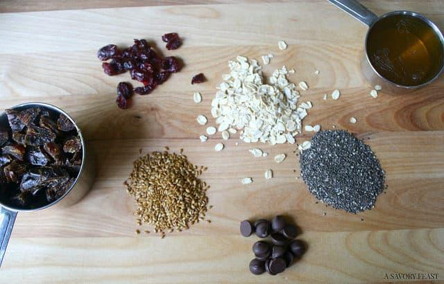 Chia Seed Energy Bite Ingredients