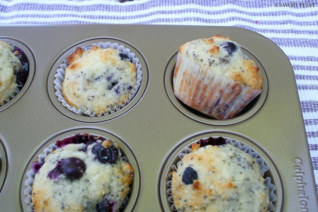 Blueberry Chia Seed Muffin Recipe