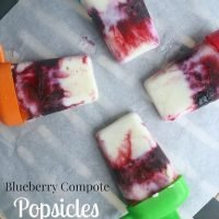 Blueberry Compote Popsicles