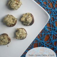 Panko, Cream Cheese & Herb Stuffed Mushrooms