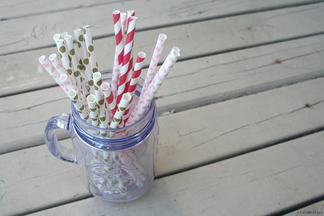 Food Photography Paper Straws