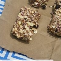 White Chocolate Blueberry Granola Bars