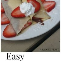 Easy Chocolate Strawberry Crepes