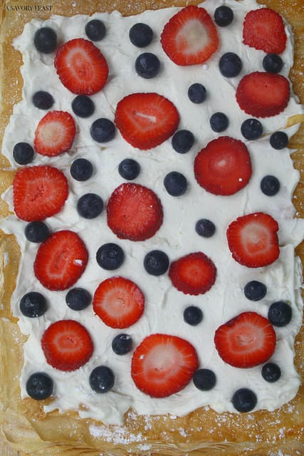 Berry Mascarpone Tart 4th of July