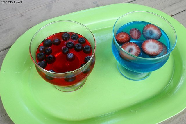 Jello and Fruit Cups Recipe