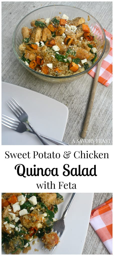 Sweet Potato and Chicken Quinoa Salad with Feta