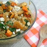 Sweet Potato & Spinach Quinoa Salad with Feta
