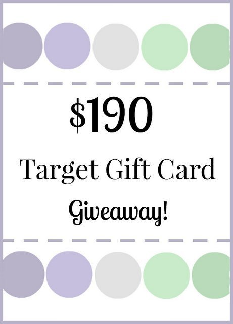 $190 Target Gift Card Giveaway
