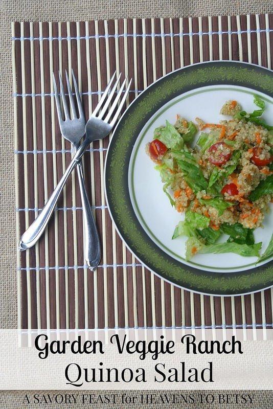 Garden Veggie Ranch Quinoa Salad