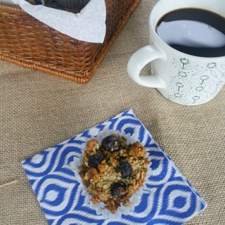 Gluten Free Blueberry Oat Muffins