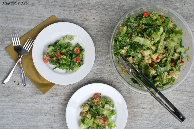 Bacon Avocado Quinoa Salad Dinner