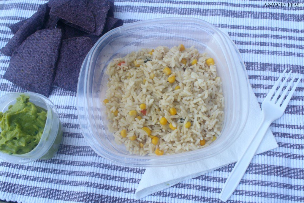 Healthy Packed Lunch Southwestern Rice