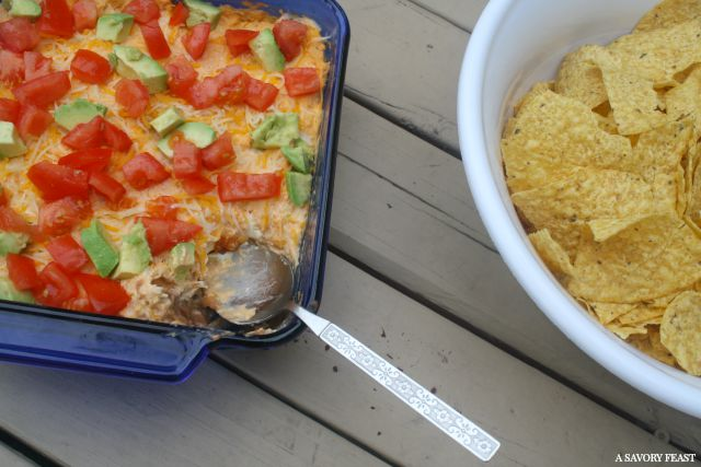 Loaded Buffalo Chicken Dip Appetizer