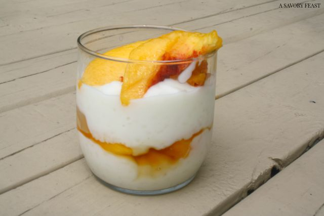 Maple Peach Rice Pudding