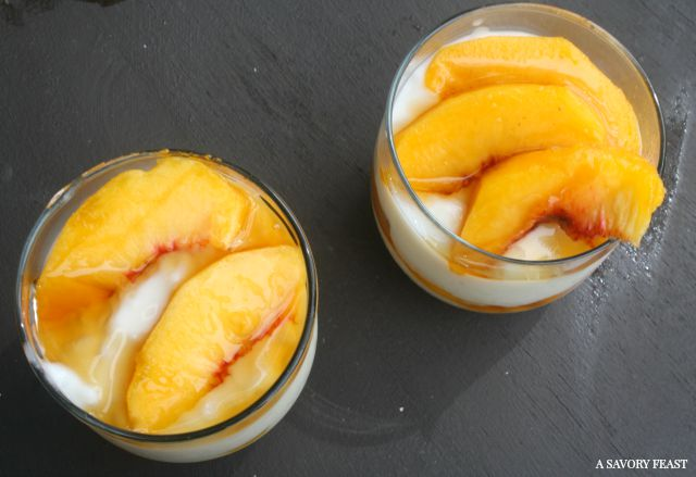 Maple Peach Rice Pudding Cups