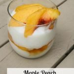 Maple Peach Rice Pudding Parfait