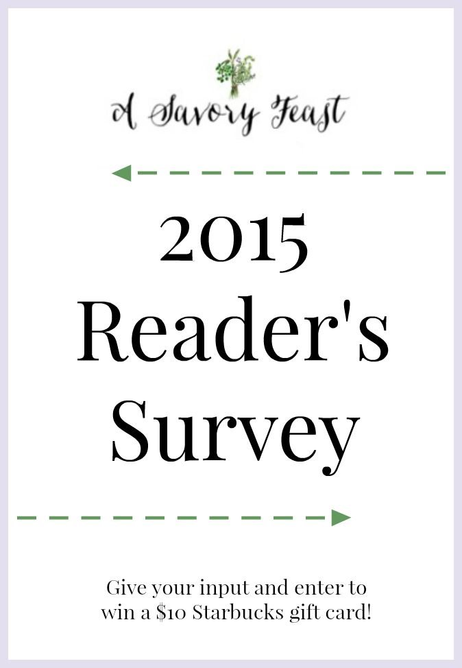 2015 Reader's Survey