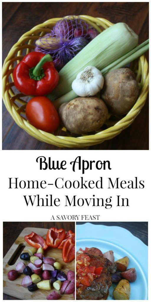 Blue Apron makes cooking so much easier! I was able to make home-cooked meals while moving into a new house thanks to their delivery service.