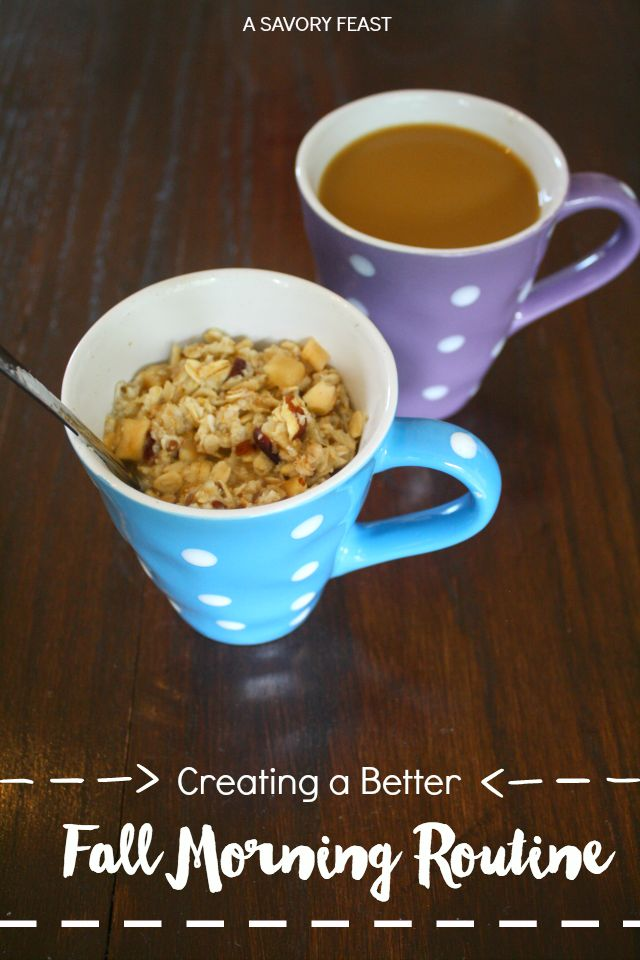 Creating a Better Fall Morning Routine