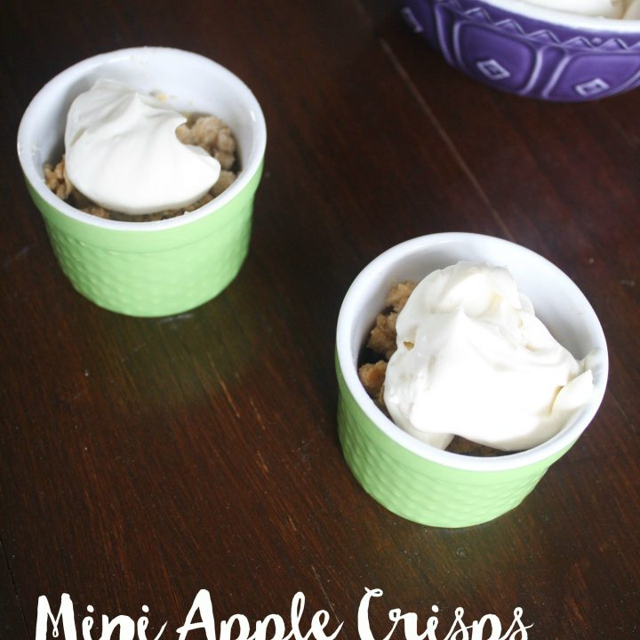 Mini Apple Crisps with Mascarpone Whipped Cream
