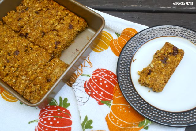 Pumpkin Chocolate Chip Granola Bar Recipe