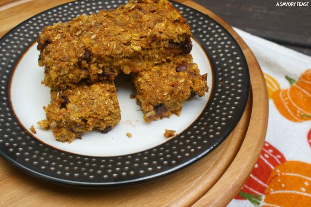 Pumpkin Chocolate Chip Granola Bar