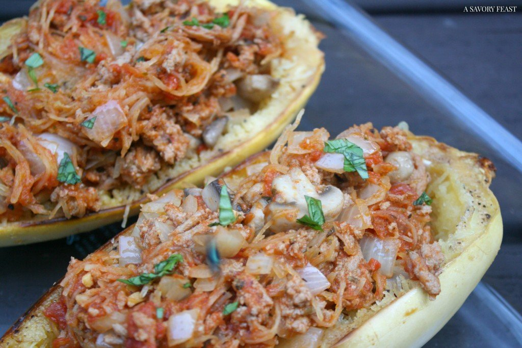 Stuffed Spaghetti Squash Dinner