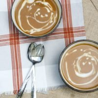 Slow Cooker Creamy Pumpkin Soup with Maple Cream