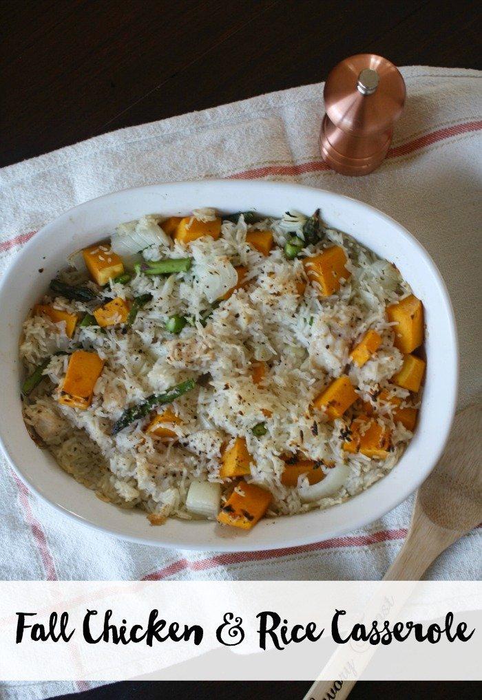 Fall Chicken and Rice Casserole