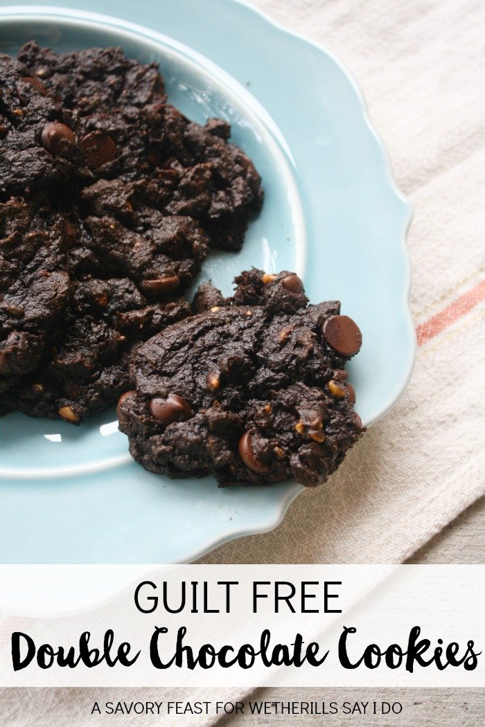 Guilt Free Double Chocolate Cookies