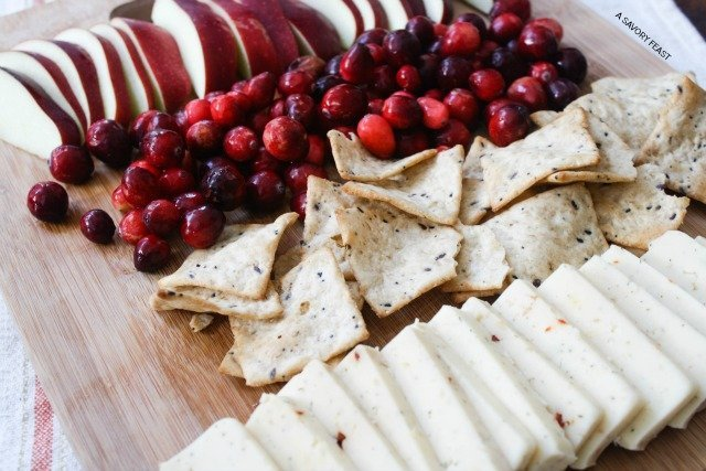 Holiday Cheese and Fruit Platter