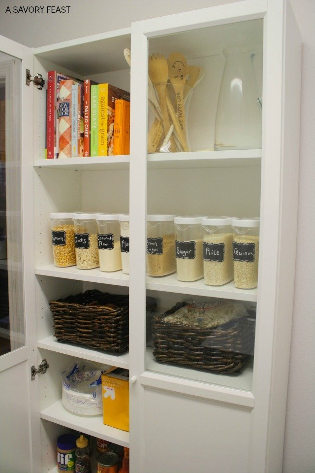 ikea billy bookcase pantry hack. Black Bedroom Furniture Sets. Home Design Ideas