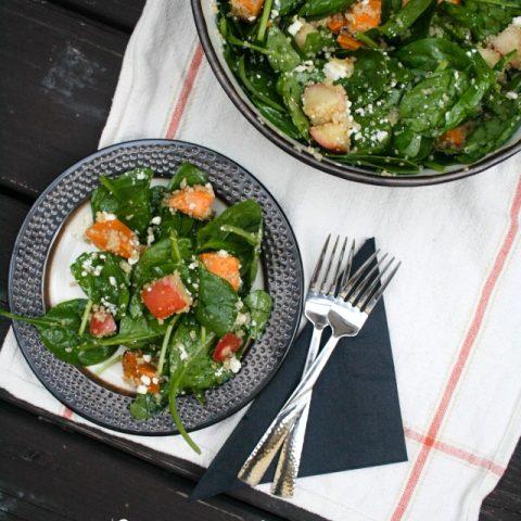 Sweet Potato & Apple Quinoa Salad with Maple Dressing