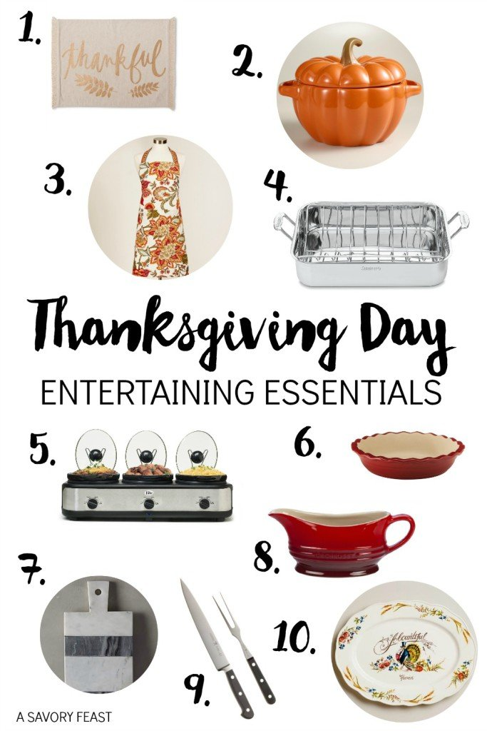 Thanksgiving Day Entertaining Essentials // Hosting a holiday gathering? Here are 10 must haves to make your dinner a success!