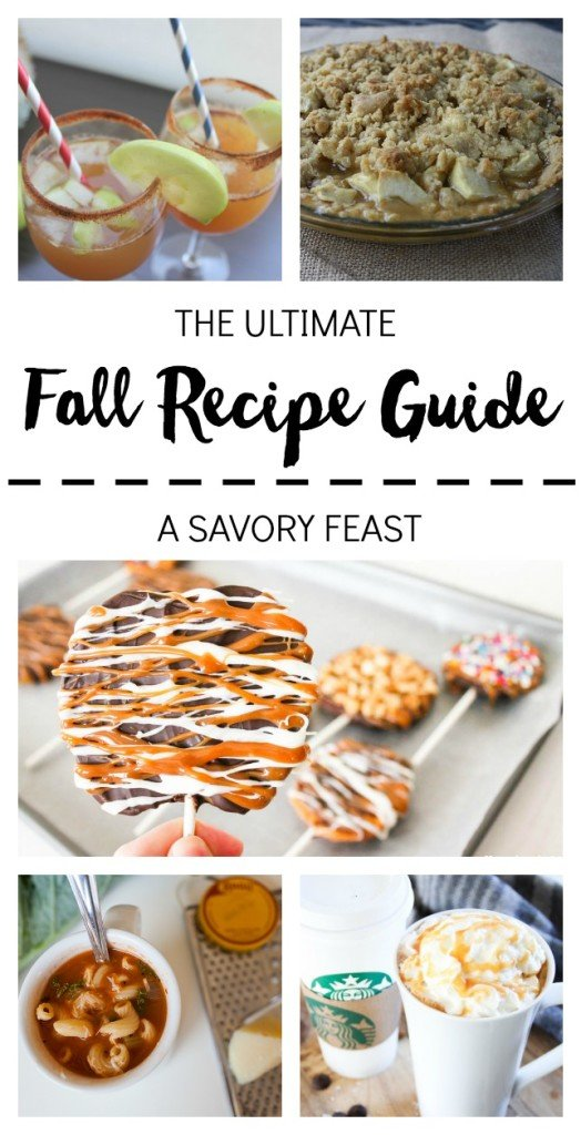 The Ultimate Fall Recipe Guide // So many delicious recipes to celebrate the season, from breakfasts to desserts to main dishes!
