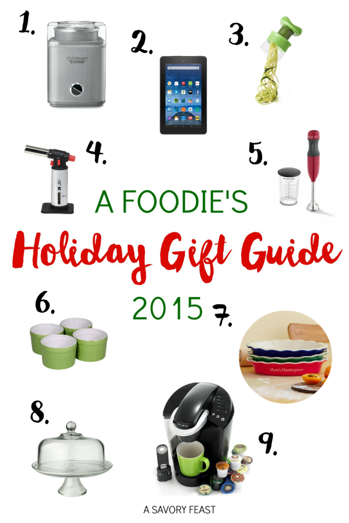 A Foodie's Holiday Gift Guide 2015 // Got a food lover on your shopping list? Here are some fun and creative Christmas presents they will love!