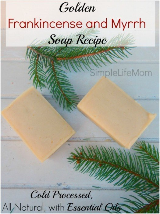 Golden-Frankincense-and-Myrrh-Soap-Recipe-cold-processed-with-essential-oils-525x700