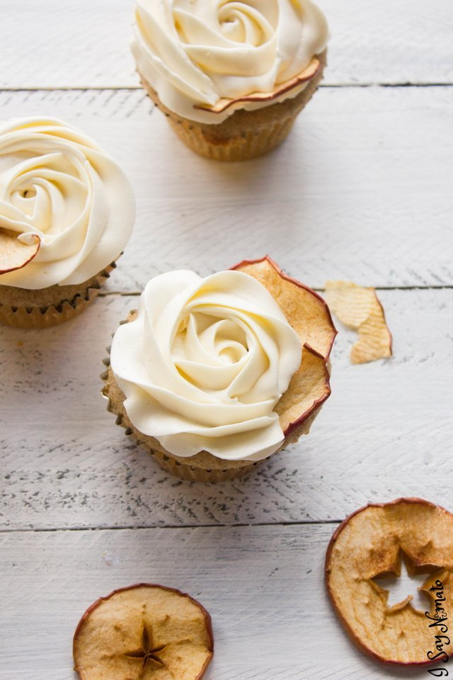 Apple Cider Cupcakes - I Say Nomato