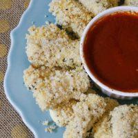 Healthier Mozzarella Cheese Sticks with Dipping Sauce