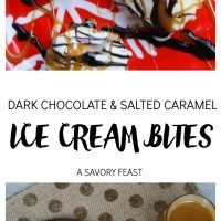 Dark Chocolate & Salted Caramel Ice Cream Bites
